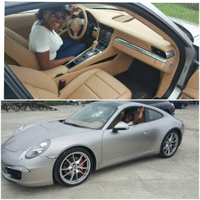 Linda Ikeji's Sister Sandra Gets Porshe Carrera As Birthday Gift From Boyfriend