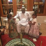 Awww! Buhari Getting His Nails Done By His Granddaughters