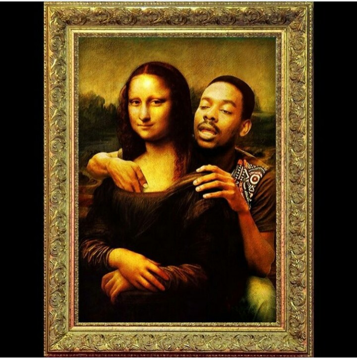 How the hell did he find his way into Monalisa's portrait... embarassed  What was he trying to do to Monalisa