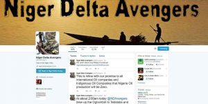 Niger Delta Avengers Twitter Account Suspended!