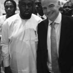 Bukola Saraki's Son, Seni Pictured With FIFA President Gianni Infantino In Abuja
