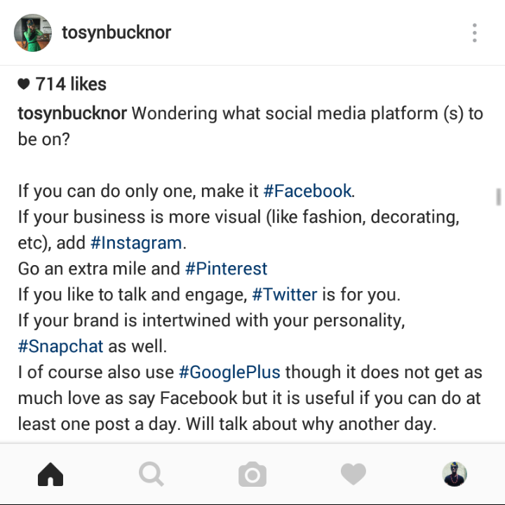 OAP Tosyn Bucknor Shares Social Media Tips