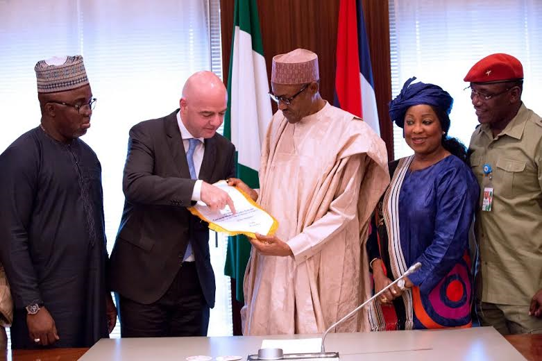 FIFA President Gianni Infantino Pays A Courtesy Visit To Buhari [PHOTOS]