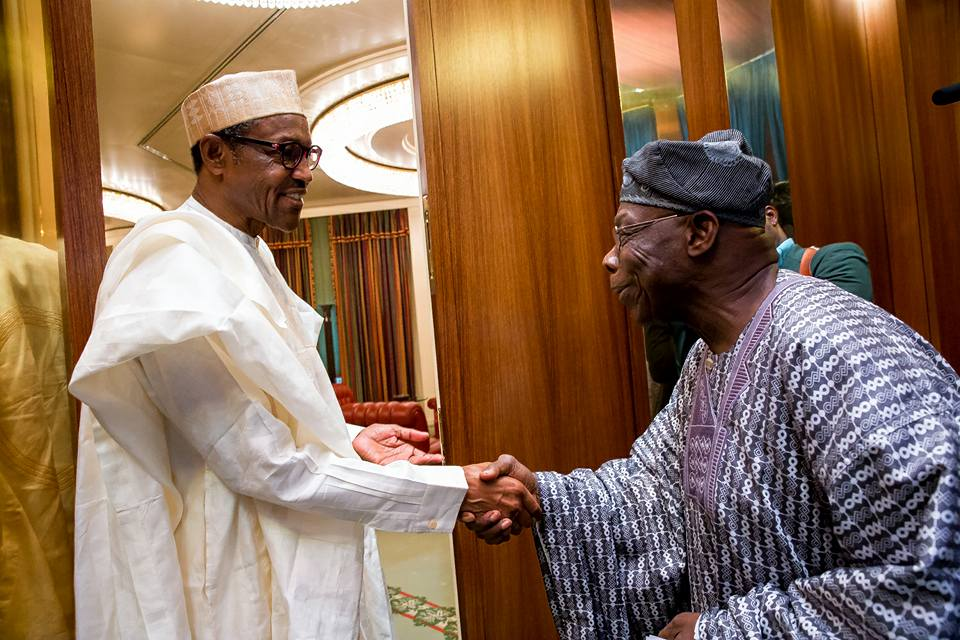 JUST IN: Buhari In Closed-door Meeting With Obasanjo
