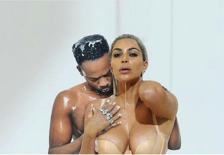 Then he decided yo have some good time with Kim in the absence of Kanye....