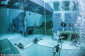 Check Out Mind-blowiing Photos Of World's Deepest Swimming Pool