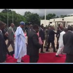 See How Buhari Welcomed Togolese President In Aso Villa