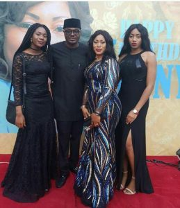 DJ Jimmy Jatt Poses With His Daughters And Wife At Her 50th Birthday Party