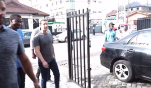 Facebook Founder, Mark Zuckerberg Pictured Walking Freely On The Streets Of Yaba, Lagos
