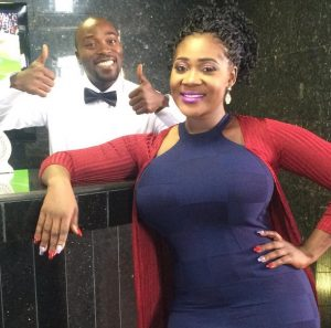 Mercy Johnson and Seun Akindele on set