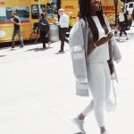Tiwa Savage Goes Pinky Outfit In Houston Ahead Of US R.E.D Tour