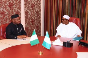Gov. Udom Emmanuel Visits Buhari [PHOTOS]
