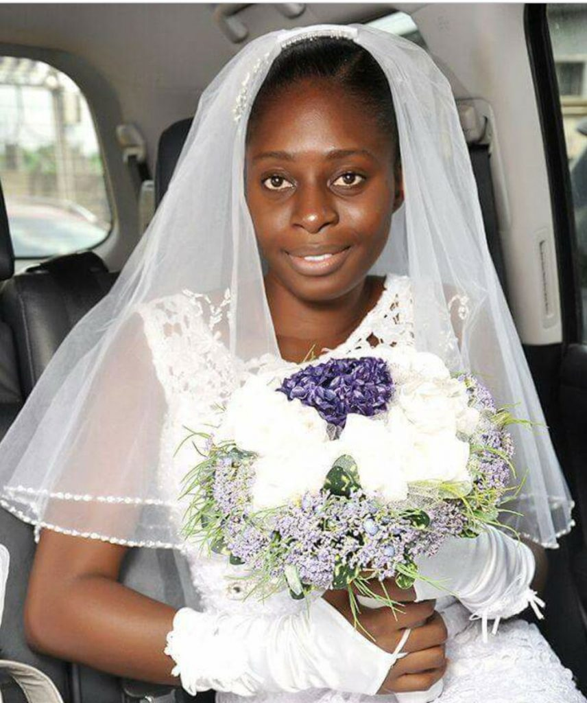 Wow! See The Ghanaian Bride Who Refused To Wear Makeup On Her Wedding Day