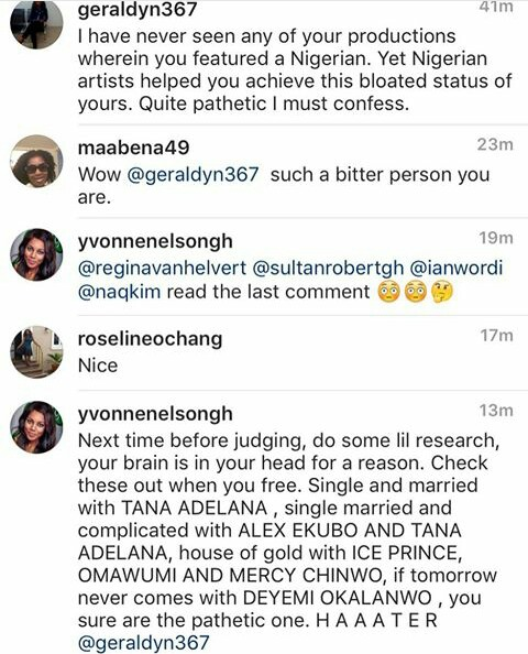 Ghanaian Actress, Yvonne Nelson Calls Out Nigerian Haters On IG