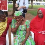 Oby Ezekwesili Pictured Consoling Mother Of Chibok Girl, Maida Yakubu