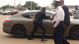 Benin's New President Drives Himself To A Football Match In Cotonou [PHOTOS]