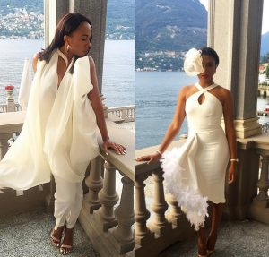 Stephanie Coker VS Fade Ogunro At Seyi Tinubu's Wedding In Italy [PHOTOS]