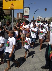 Heavy Protest In Malaga, Spain For The Release Of Nnamdi Kanu [PHOTOS]