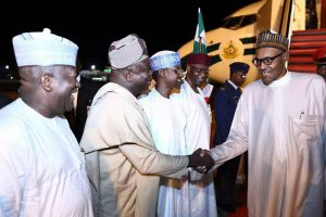 PHOTOS: Buhari Arrives Abuja After UN General Assembly In New York