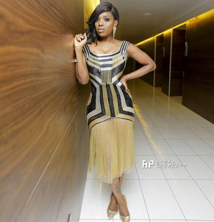 Buckwyld N' Breathless: Annie Idibia Dazzles In Fringe Dress