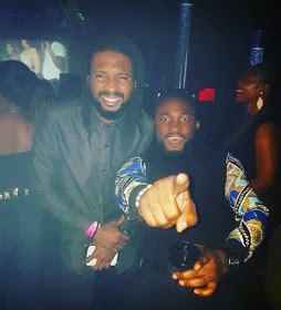 Uti Nwachukwu Cuddles Two White Chics In Club Who Mistook Him For T-Pain
