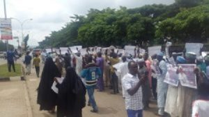 Islamic Movement Of Nigeria Protesting For The Release Of El-Zakzaky In Abuja