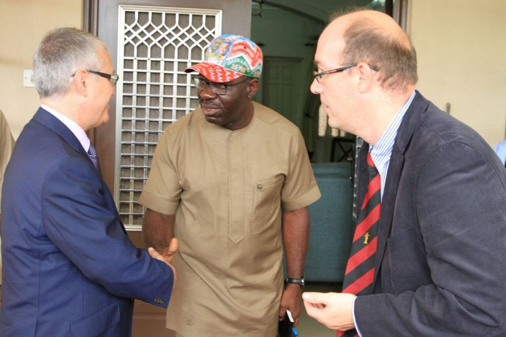 [PHOTOS]: Godwin Obaseki Meets European Union Election Observers