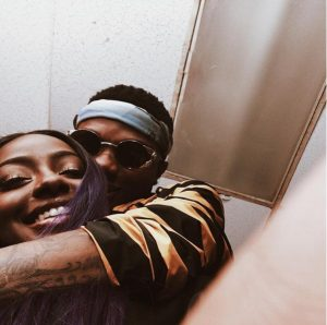 Wizkid Shares Another Loved-up Photo With American Girlfriend, Justine Skye