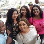 Uche Ogbodo, Oge Okoye Pay Visit To Uche Elendu And Her New Baby