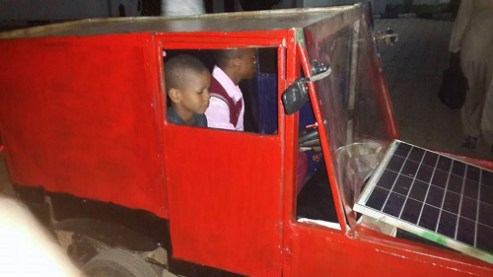 16-year-old Nigerian Boy Builds Solar-powered Car, Presents It To The Governor