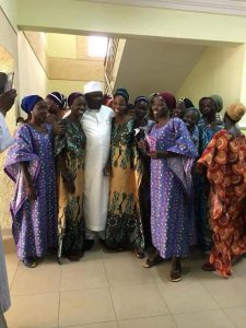 Senator Ali Ndume Strikes Pose With Released Chibok Girls