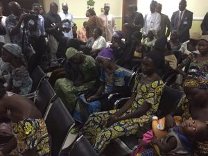 Lai Mohammed, VP Osinbajo & Wife Visit 21 Released Chibok Girls [PHOTOS]