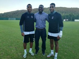 "Proud Father! Daniel Amokachi ""D Bull"" Visits His Twin Sons In Istanbul, Turkey"