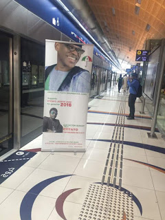 Ondo PDP Governorship Candidate, Eyitayo Jegede's Campaign Poster Spotted in Dubai
