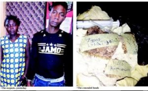 Two Men Nabbed In Lagos With Crushed Human Heads Hidden In Bread