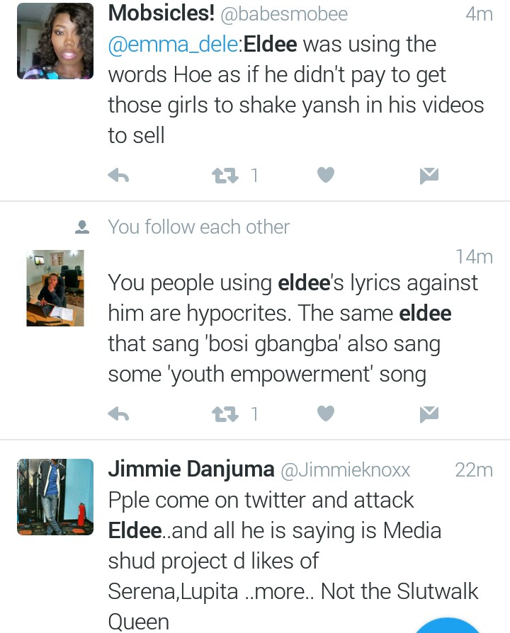 Twitter Nigeria Sparks Fire On Eldee For Calling Amber Rose A Hoe