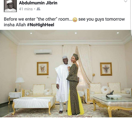 Before We Enter The Other Room... - Abdulmumin Jibrin Shares Cute Pic With His Wife
