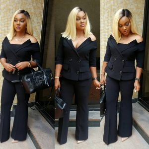 Mercy Aigbe Flaunts Cleavage In Amazing Outfit