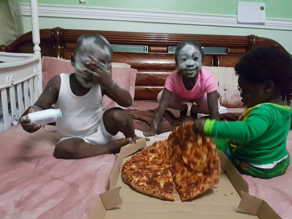 Nollywood Actress, Mercy Johnson Shares Adorable Photos Of Her Kids Playing Around