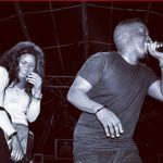 MI Abaga and fan on stage