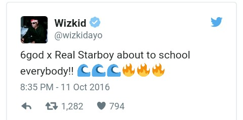 Wizkid Announces New Single With Drake