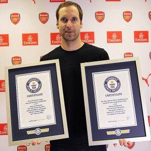 Petr Cech Bags Two Guinness World Records Awards
