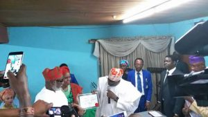 Ondo State Governor-elect Akeredolu Receives Certificate Of Return From INEC