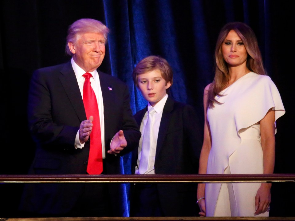 Barron takes after both Melania and Donald Trump REUTERS