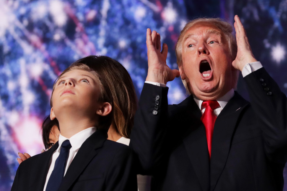 Barron is Melania and Trump's only child together REUTERS