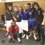 Aye! Davido Pictured In Dressing Room With Chelsea Star Players