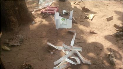 Commotion At Owo LGA As INEC Ballot Box Is Hijacked And Destroyed [PHOTOS]
