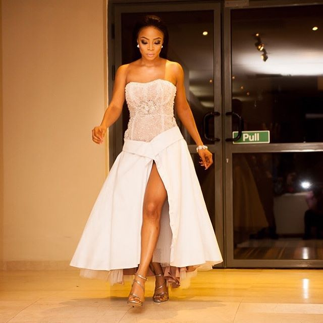 Toke Makinwa's outfit to Book Launch