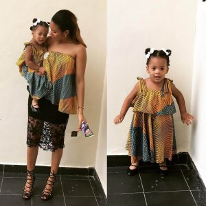 Anna Ebiere: Ex-Beauty Queen Steps Out With Daughter In Matching Outfits