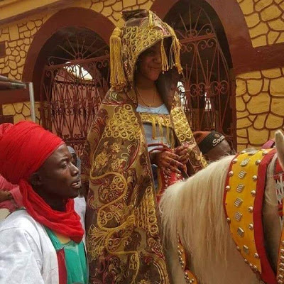 See How Emir Sanusi's Daughter Rode To Her Husband House In Style [PHOTOS]